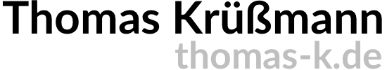 Thomas Krüßmann, Bielefeld, private Webseite